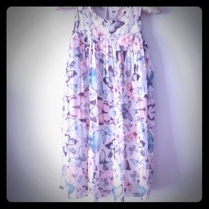 H&M pleated shift dress with butterfly prints